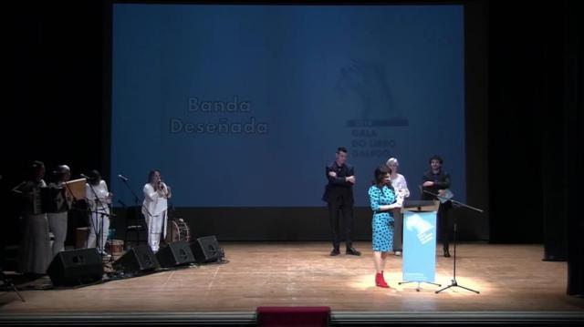 Entrega do Premio na categoria de Banda deseñada